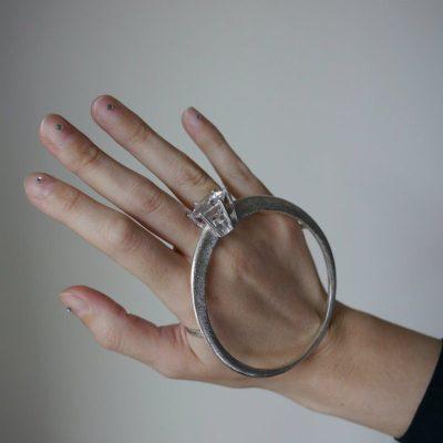 Artistar Jewels 2019, in mostra 500 gioielli. bracciale da mano argento