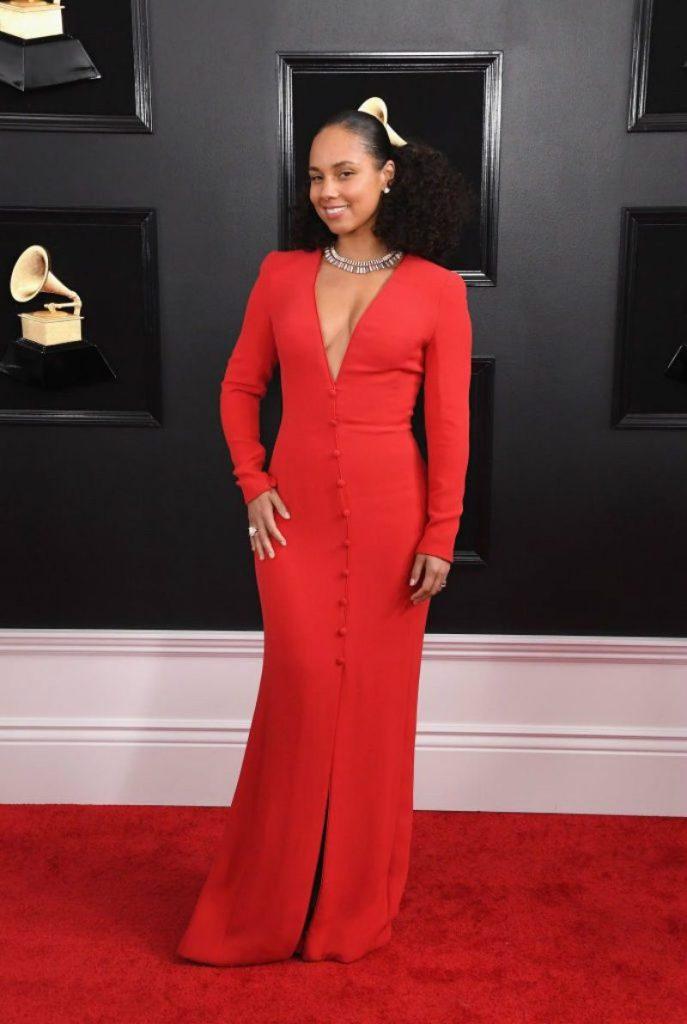 Look Grammy Awards 2019, il meglio del red carpet. Alicia keys in Giorgio Ar mani