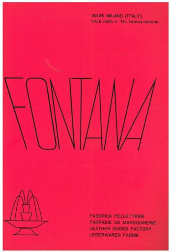 Manifesto Fontana 1915 rosa shocking