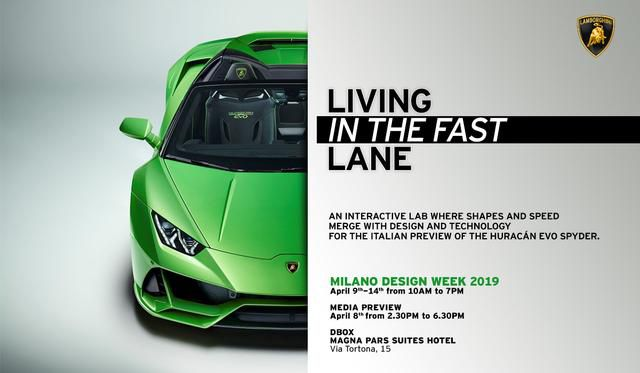 Lamborghini alla Design Week 2019