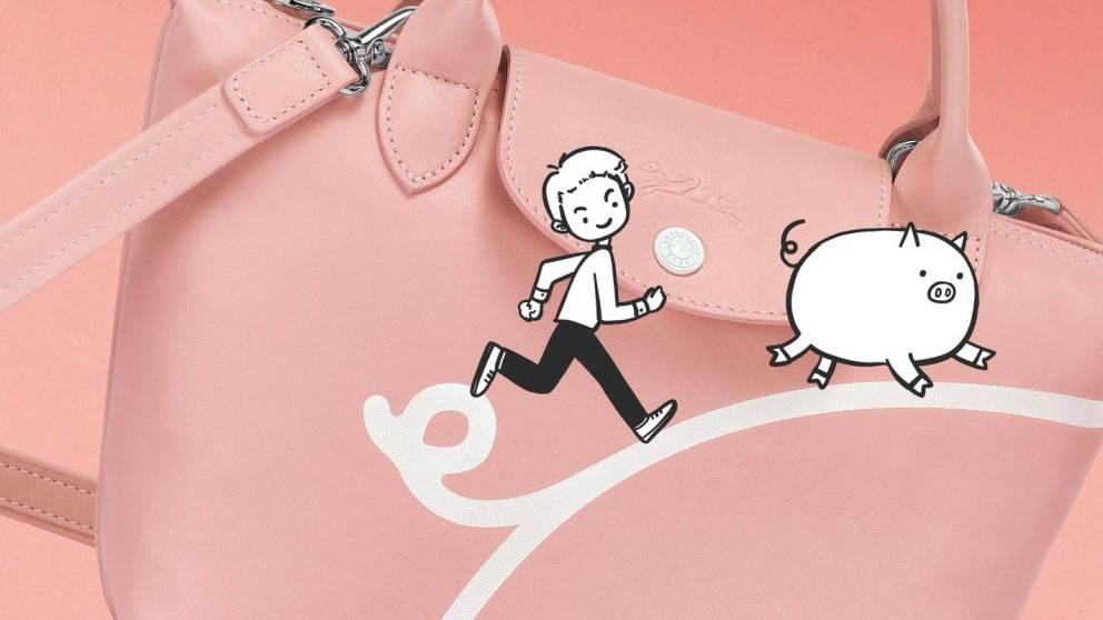 Longchamp anno del maiale borsa Mr.bags