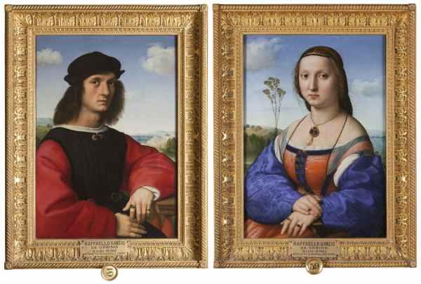 I ritratti di Agnolo e Maddalena Doni di Raffaello