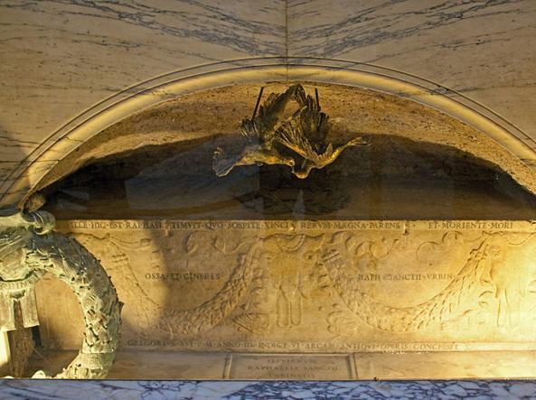 La Tomba di Raffaello Sanzio al Pantheon di Roma