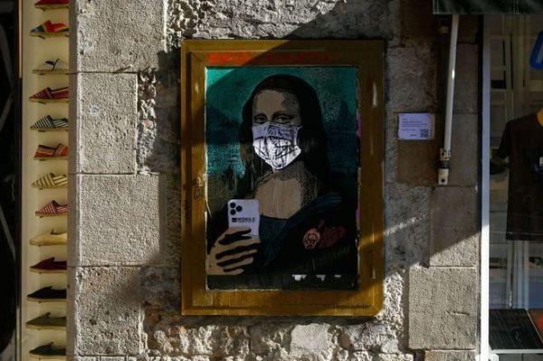 Barcellona, Spagna - Street Artist TVBOY Foto di PAU BARRENA:AFP