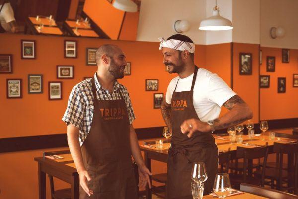 I titolari di Trippa sono lo chef veneto Diego Rossi e Pietro Caroli, esperto di marketing e un passato da food blogger