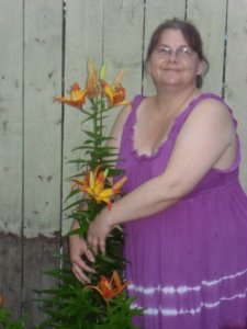 Mama and her Lillies