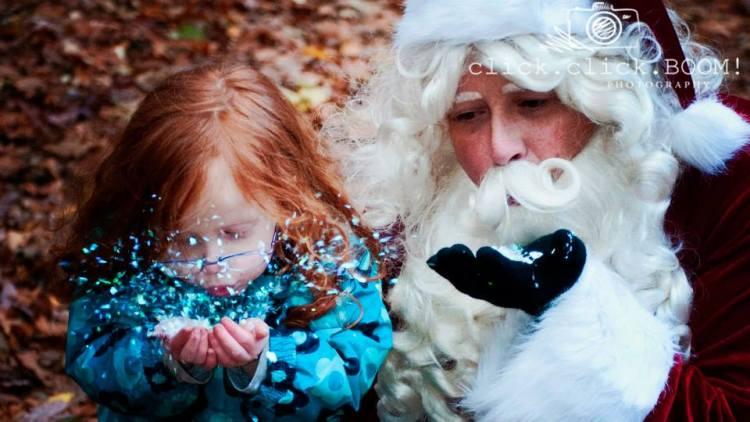 Glitter Santa