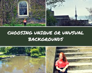 choosing unique or unusual bakgrounds