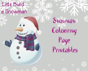 Lets Build a Snowman Colouring Page