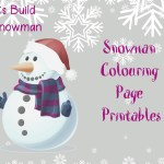 Build a Snowman Colouring Page Printable