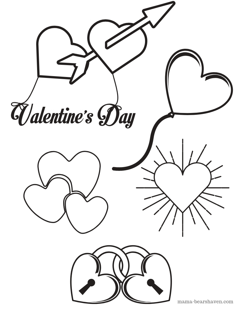 photograph relating to Valentine Heart Printable named Be My Valentine Center Colouring Website page Printables -