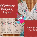 DIY Valentine Bookmark Card for Kids – Colouring Printable