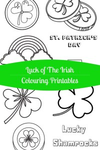 Luck of the Irish Colouring Printables