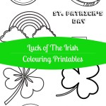 Luck of The Irish Colouring Printables for St. Patrick's Day