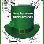 Lucky Leprechauns Colouring Printable – Leprechaun Traps