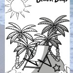Beach Days and Flip Flops – Colouring Page Printables