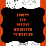 Ghosts and Goblins Halloween Printables to Colour