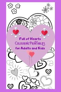 Full of hearts colouring printables