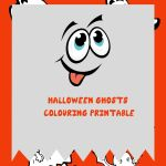 Halloween Ghosts Colouring Printable – Boo!