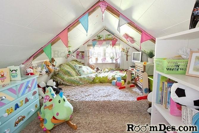 pokój dziecięcy na poddaszu1