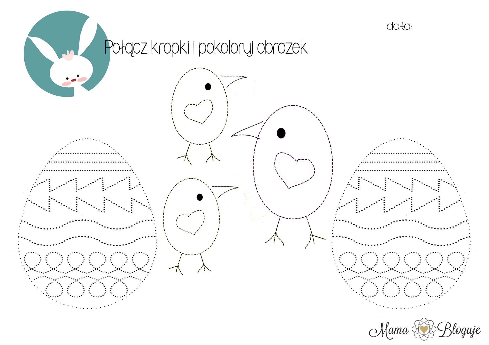 kropki kurczaczki szlaczki pisanka