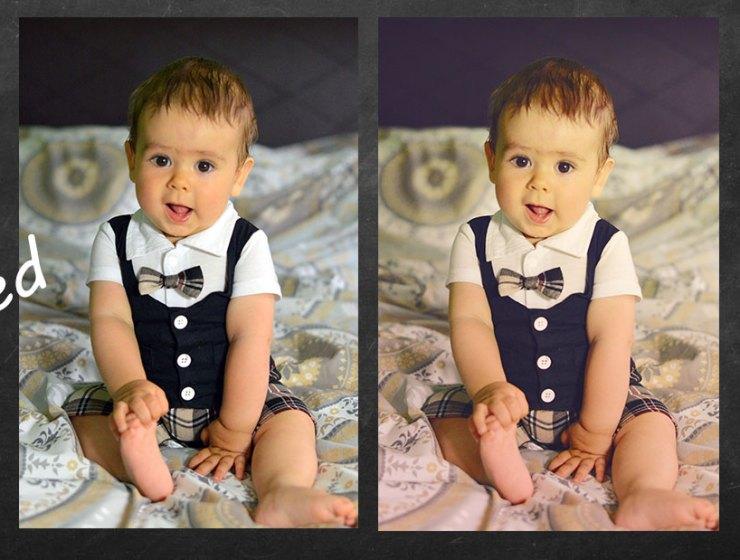 akcje do photoshopa przed po 1 - JAK OBROBIĆ ZDJĘCIE W 2 MINUTY - AKCJE DO PHOTOSHOPA