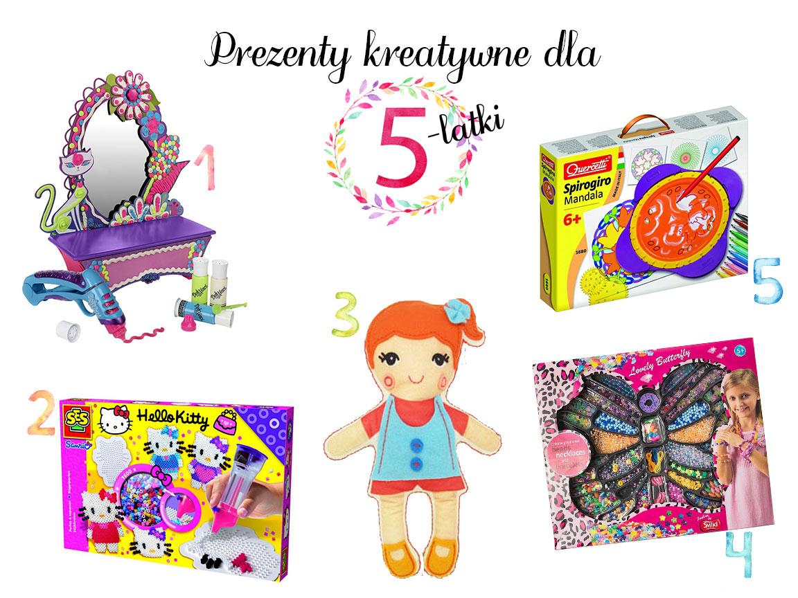 prezenty kreatywne dla pięciolatki