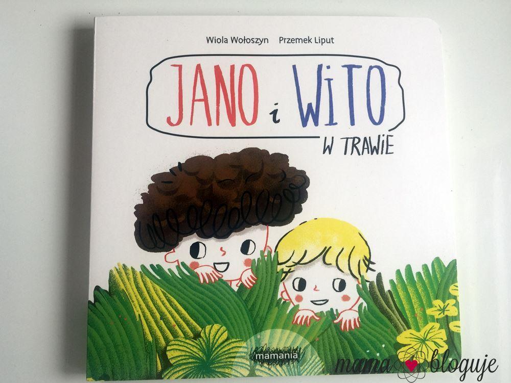 Jano i Wito w trawie. Wiola Wołoszyn