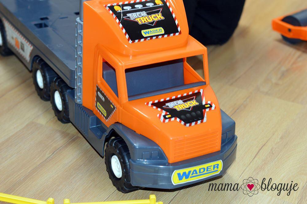 Super Tech Truck Laweta z walcem zabawka dla chłopca