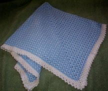 Blue and white blanket for baby boy