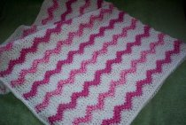 Shades of pinks and white - blanket for baby girl
