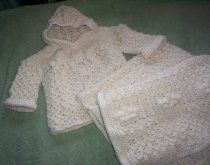 Natural colour 2 pc.set - jacket and matching blanket