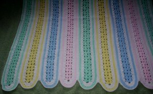 Handmade Rainbow Colours Baby Blanket