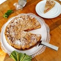 Rhabarberkuchen mit Quark-Hefe-Teig