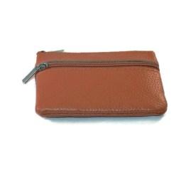 MamaBella AT0008 Kleine lichtbruine geldbeugel of portemonee met sleutelhanger. Handig om sleutels aan te hangen en kaarten of geld in te bewaren