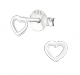 MamaBella OK0008 Heart oorbel is een kinder oorbel, gemaakt van sterling silver of 925 zilver. Het is een oorbel stekertje met een hartje
