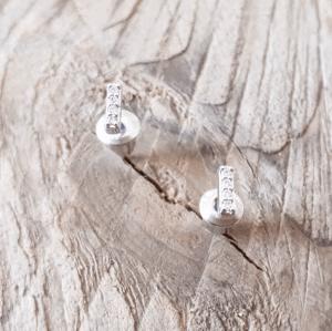 MamaBella OD0060 Mini Strass Zilveren Staafjes Oorstekers
