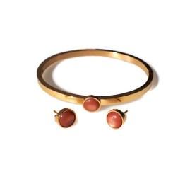 MamaBella AD0054 Armband en Oorbellenset Polaris Roze