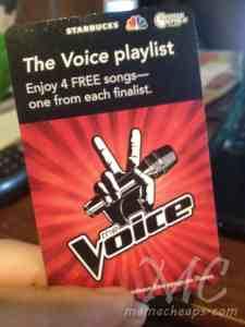 starbucks the voice