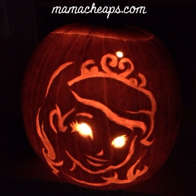 31 free disney pumpkin carving printable templates mama for Rapunzel pumpkin template