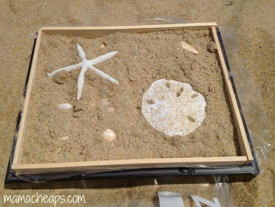 diy beach handprint footprint craft frame i