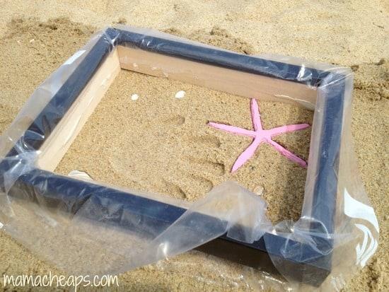 diy beach handprint footprint craft frame l