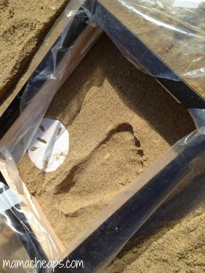 diy beach handprint footprint craft frame o