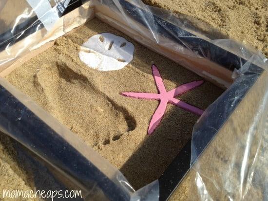 diy beach handprint footprint craft frame p