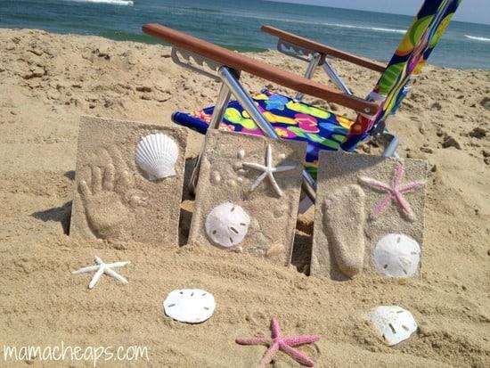 diy beach handprint footprint craft frame q
