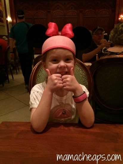 lily at disney world magic kingdom be our guest restaurant