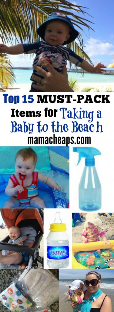 Top 15 MUST-PACK Items for Taking a Baby to the Beach ...