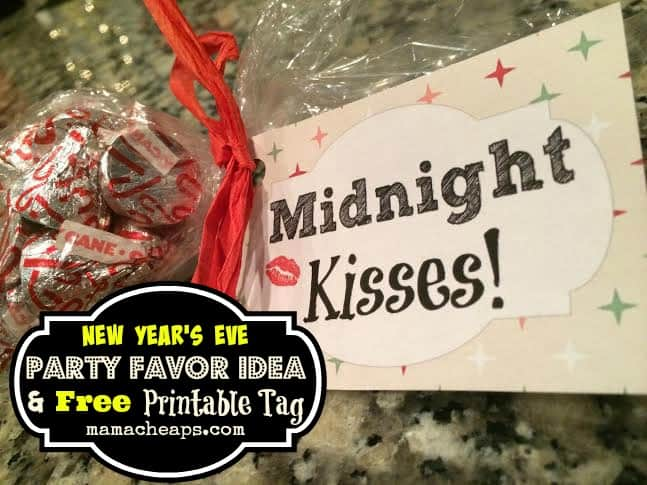 midnight kisses new years eve party favor title