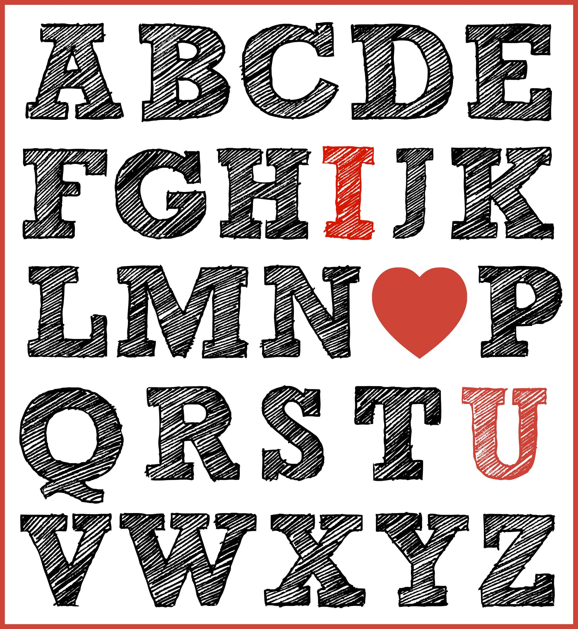 Free Printable I Love You Print For Valentine S Day