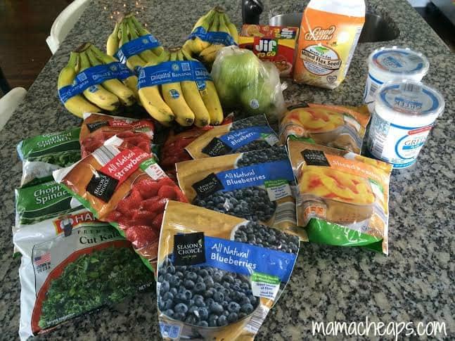 freezer smoothie ingredients